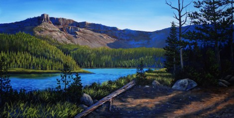 "Title:Still Waters Medium:	acrylic Size:	24""x48"""