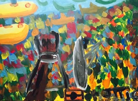 "Title:The Ocean Medium:Acrylic on Canvas Size:40""x30"""