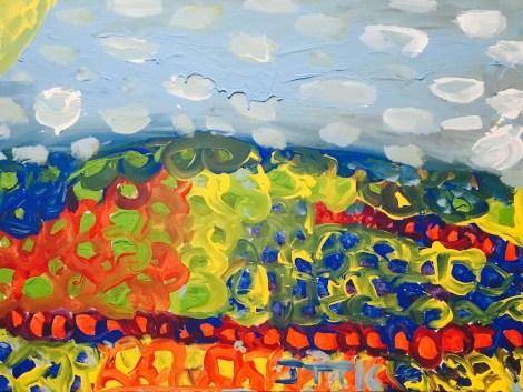 "Title:Mixed Garden Medium:Acrylic on Canvas Size:40""X30"""