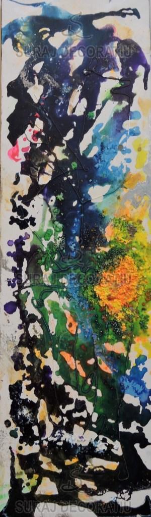 Title:Universe Wall Art Medium: Encaustic Wax Size:12x1x40