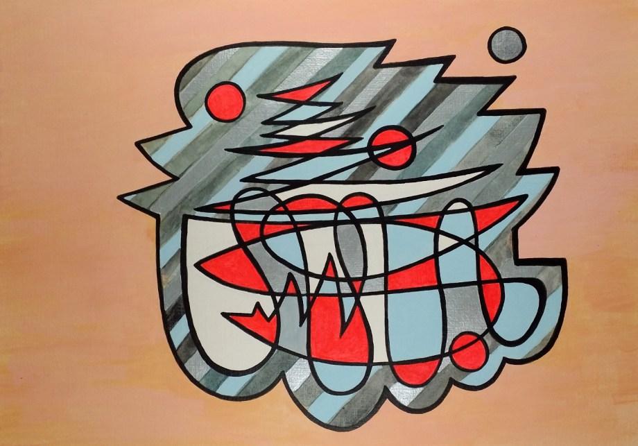 Title twitter Medium acrylic Size 28.5 x 20 cm