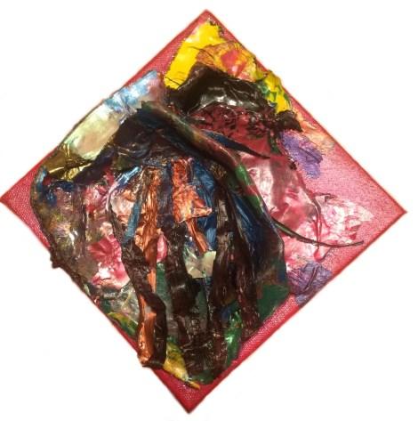 "Title:Fish Frenzy Medium:PaletteArt Acrylic™ Size:6"" x 6"""