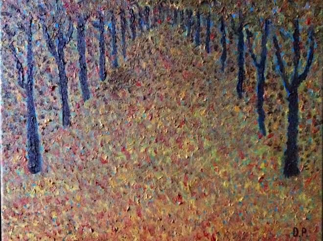 Title:Autumn Leaves Medium:Oil on canvas Size:40 x 50 cm