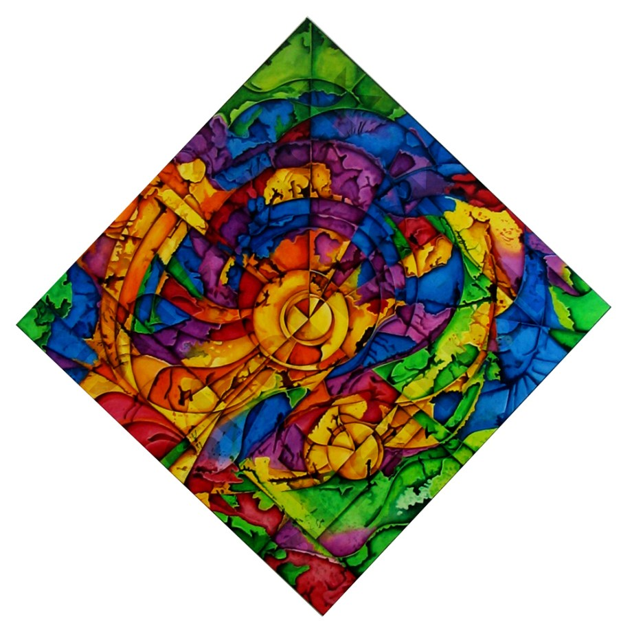 Title: Kaleidoscope Celebration Medium: Acrylic Size: 51 x 51 in