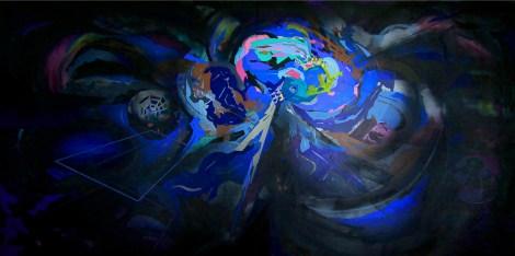 Title:BANGKOK 3013 Medium:Acrylic on canvas Size:195x390 cm.