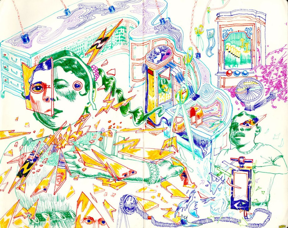 """Title:SWEET SIXTY Medium:Colored Ink on Paper Size:9"""" x 7.5"""""""