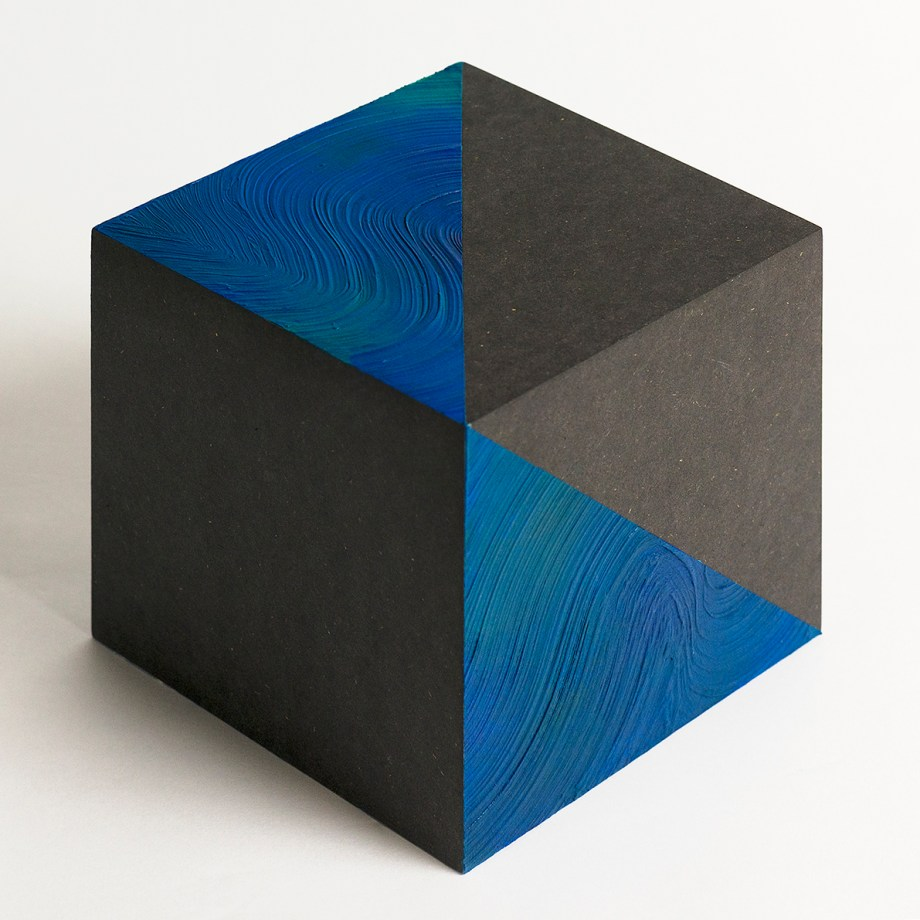 Title:Space | 空間 | No.8 Medium:	Arcylic, wood cube Size:	15x15cm