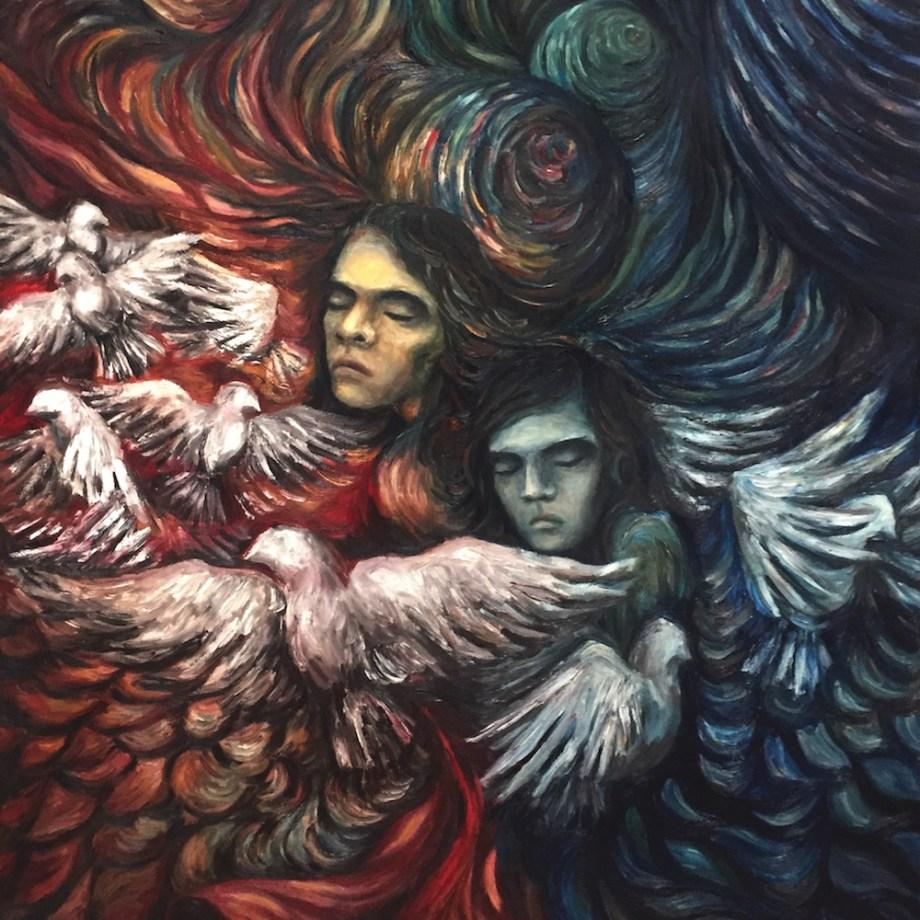 Title: I AM EVERY THING - Ali, Light & Dark Medium: Oil on Canvas Size: 110x140cm
