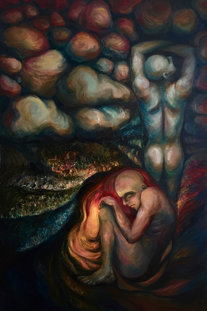 Title:I AM EVERY THING - Rock & Cave Medium:	Oil on Canvas Size:	80x120cm