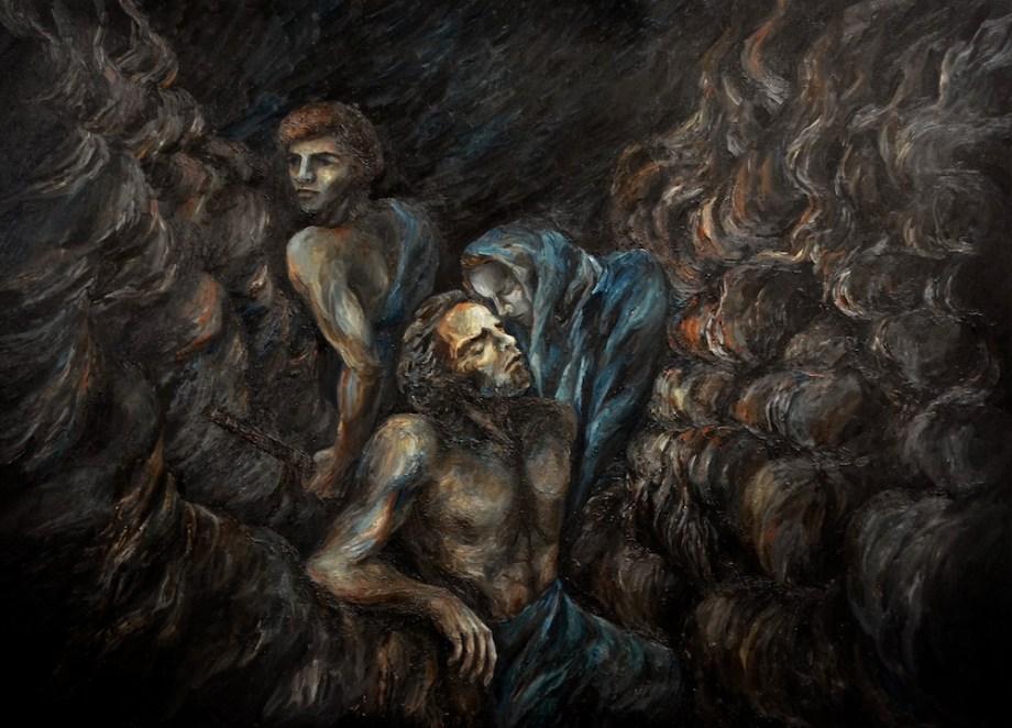 Title:BEYOND STAR RIVER - My Huntsman Medium:Oil on Canvas Size:200x160cm