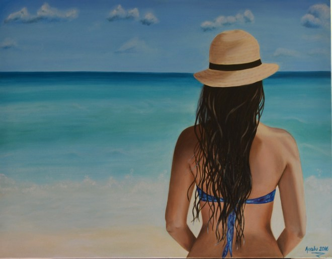 Title:Contemplative Medium:Oil on canvas Size:90x70