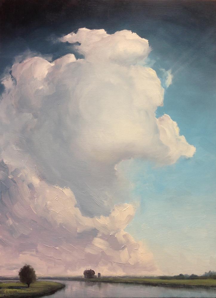 Title: AIR 42 Medium: oil on wood panel Size: 20 x 15 inch / 52 x 38 cm