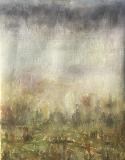 "Title:Brouillard à Giverny, matin (""Fog in Giverny, morning"") Medium:	oil Size:	12"" x 16"""