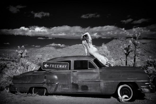 "Title:Freeway Girl Medium:photography Size:13x19"""