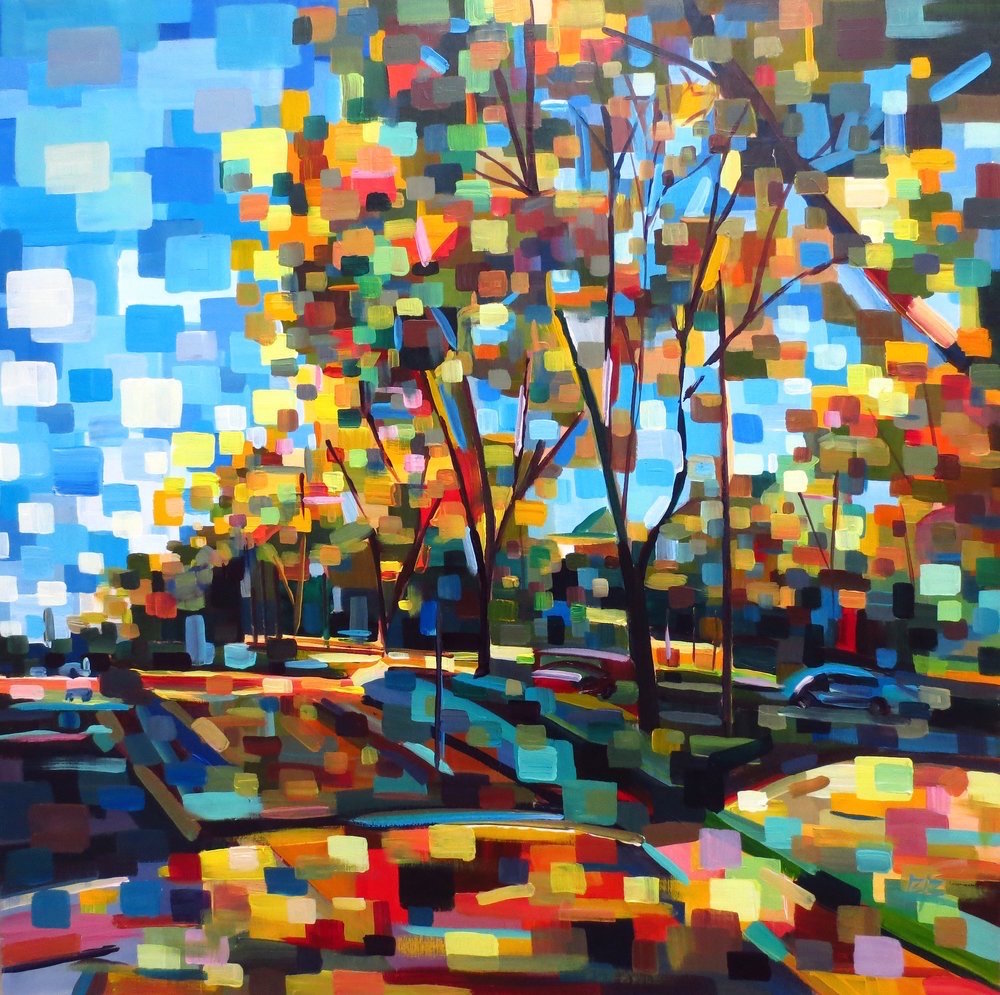 Title: Under the Shelter of Fall Medium: Acrylic Size: 30x30