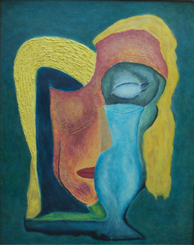 "Title:E. H. with Wineglass Medium:	Oil Size:	20""h x 16""w"