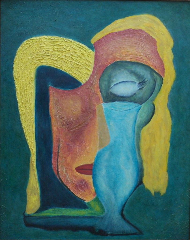 """Title:E. H. with Wineglass Medium:Oil Size:20""""h x 16""""w"""
