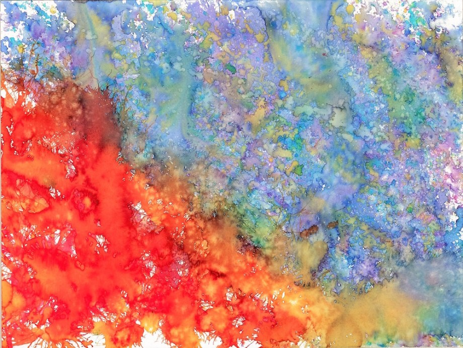 Title:Fire and Ice Medium:watercolor Size:18x24