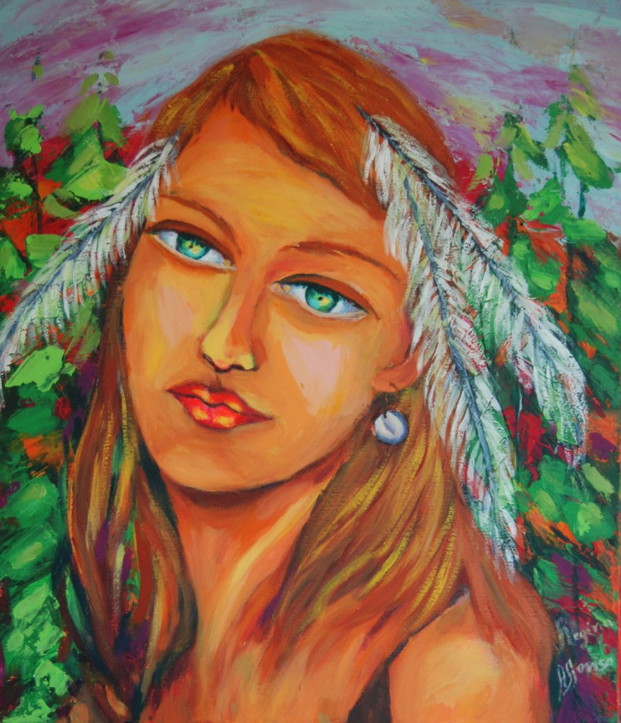 Title:native woman Medium:	acrylic s/ canvas Size:	60X80cm