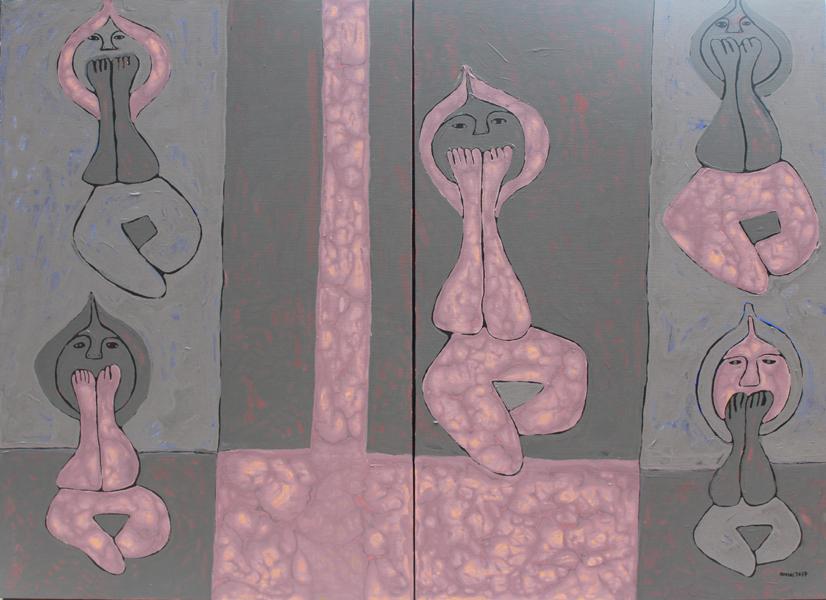 Title:Speak No Evil Medium:Acrylic On Canvas Size:87cm X 120cm