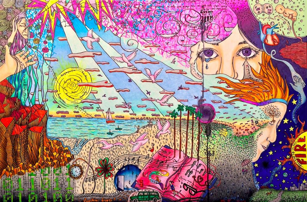 "Title: Peace Medium: Copic Markers Size: 20""x 30"" art board"