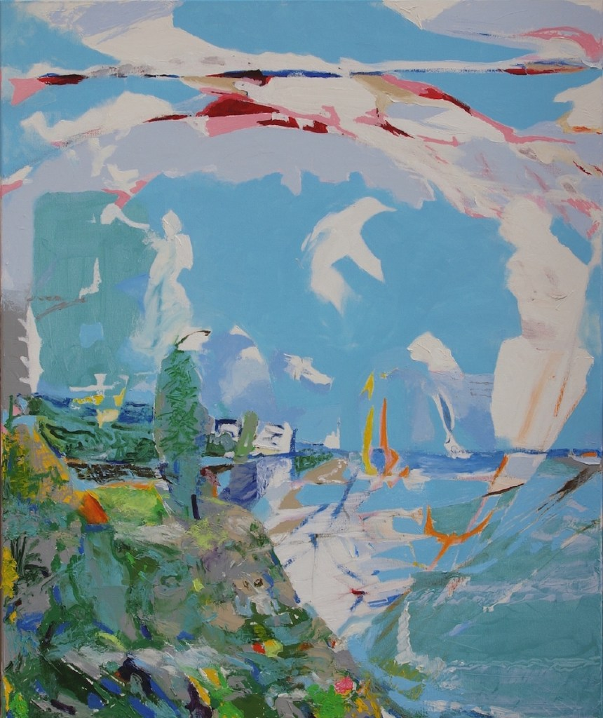 Title:Nature and History / Crete Medium:	Oil on canvas Size:	120 x 100 x 2 cm