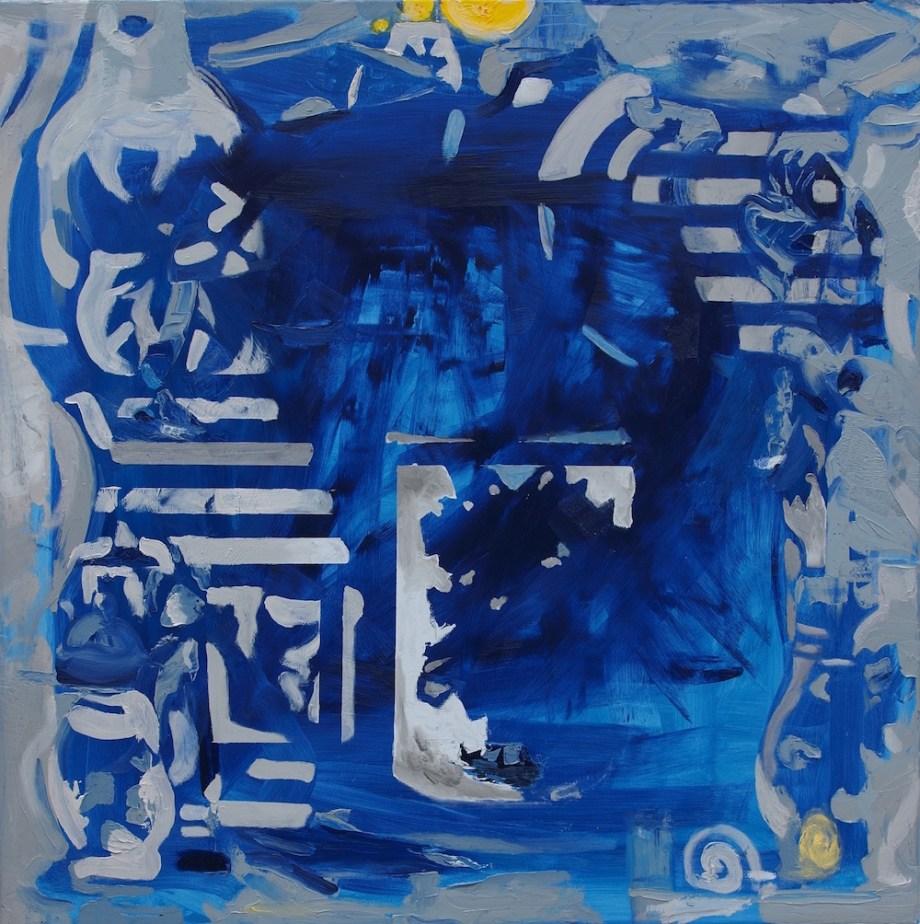 Title:Splash Medium:Oil on canvas Size:90 x 90 x 2 cm