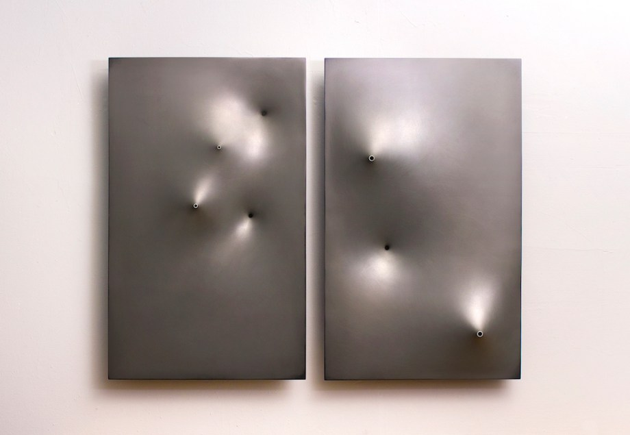"Title:Pleiades Medium:	Molded ABS plastic and laquer Size:	25"" x 32"""