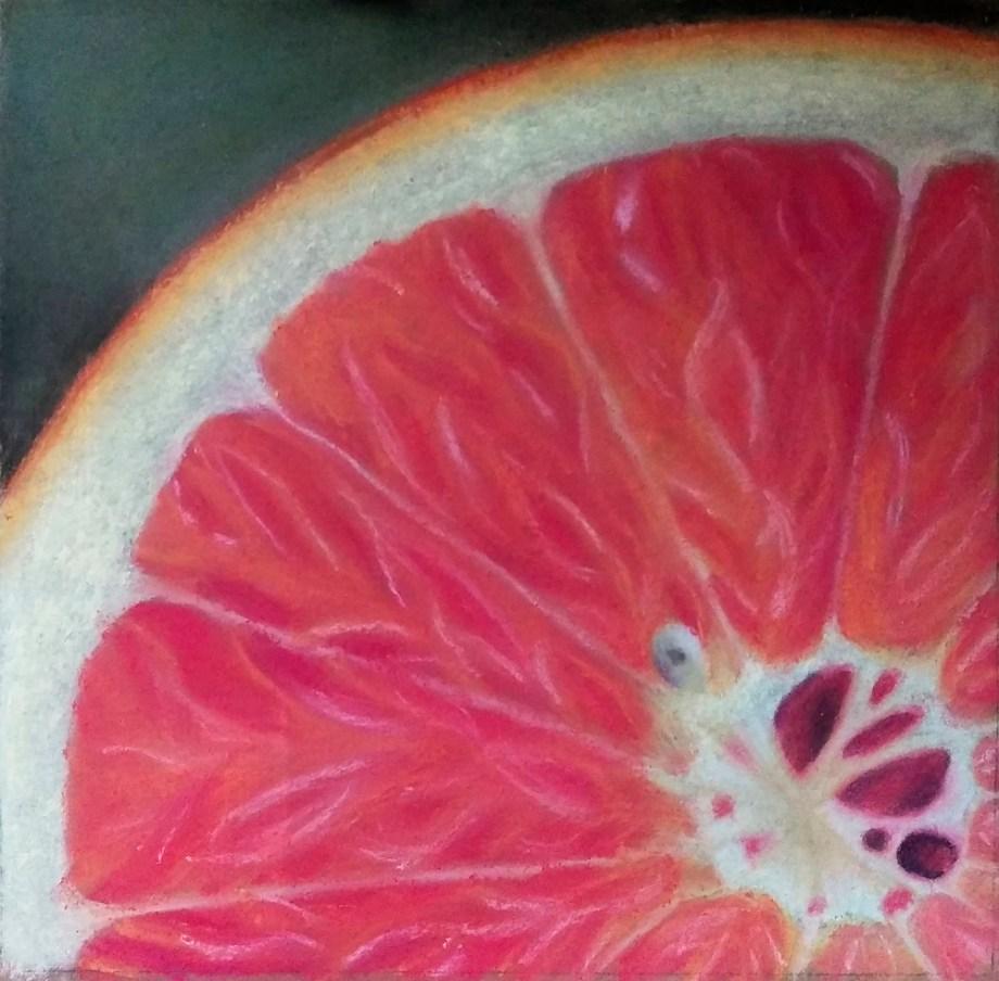 "Title:Grapefruit Medium:Soft Pastel Size:9""x9"""