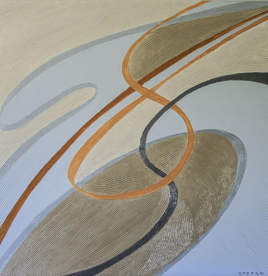 "Title:In the Movement Medium:Acrylics/ Acrylic Mediums Size:30"" x 30"""