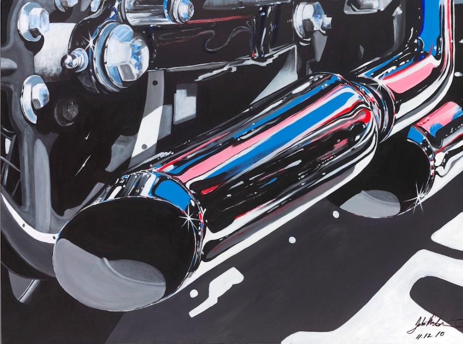 "Title:Pipe Dreams Medium:Acrylic on canvas Size:36"" x 48"""