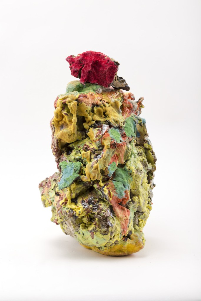 Title:New Conglomerate Medium:	ceramic materials, paint, flock Size:	14 x 5 x 5 inches