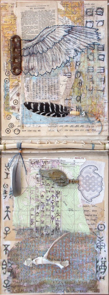 Title:Flight Talismans Medium:	Mixed Media Size:	22 x 8.5 inches