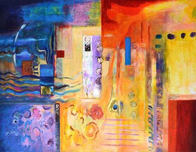 "Title:Future Days Medium:Mixed media on canvas Size:30""x40"""