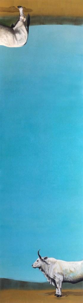 Title:The sky between us Medium:Oil Size:w 51 cm / h 185 cm