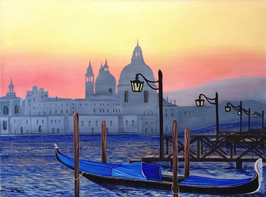 Title:View from a Venice Pier Medium:Acrylic Size:24x18