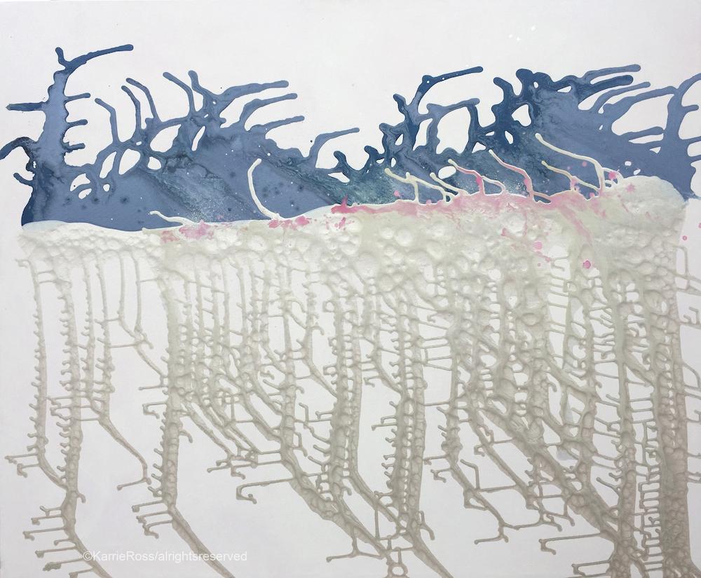 "Title: Blue Horizon Medium: acrylic Size: 48""x58"""