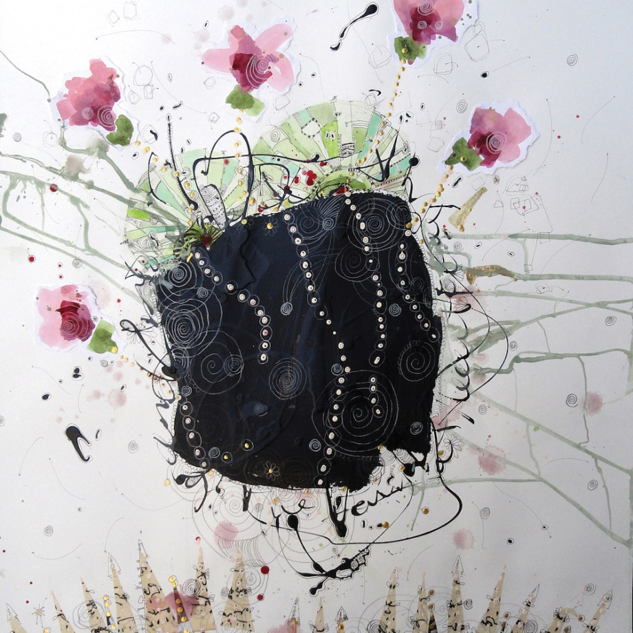 Title: Dances With Flowers Medium: mixed media Size: 30x22