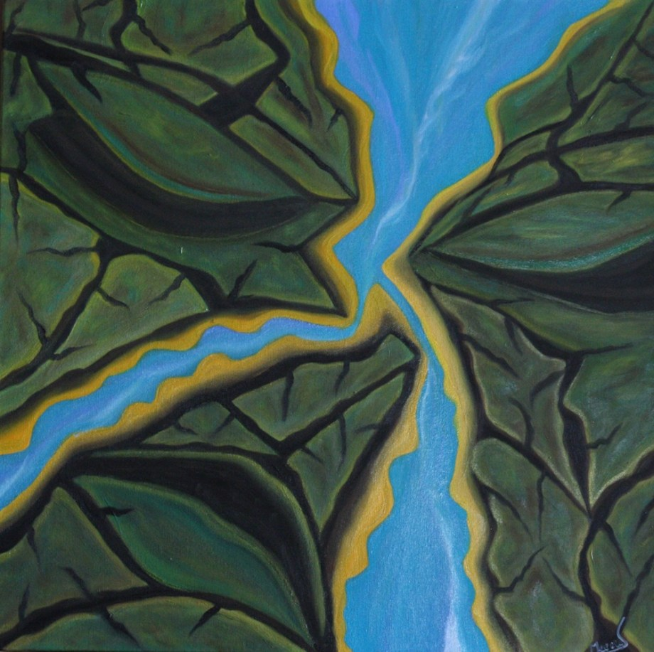 Title:Nature's Entirety - Land & Water Medium:	Oil on Canvas Size:	24x24x1.5