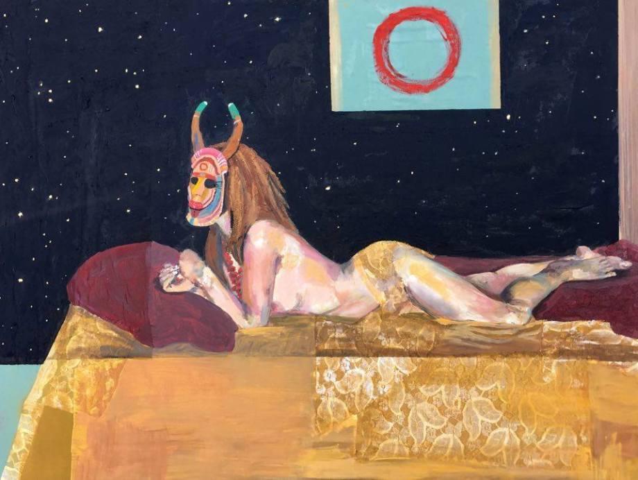 """Title:Nightfall Of Diamonds Medium:mixed media on canvas Size:48"""" x 36"""""""