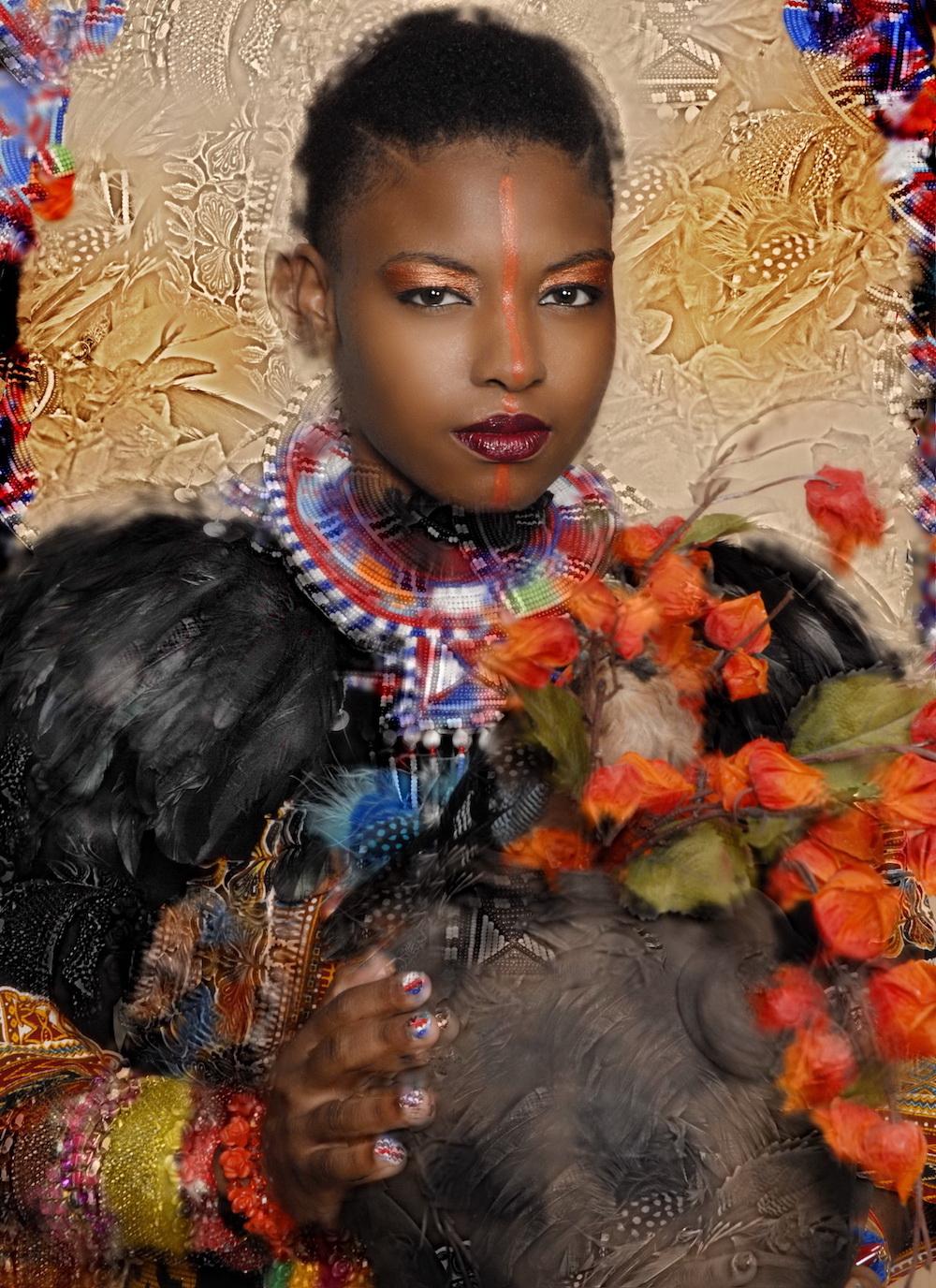 Title: oshun ( african goddess of wealth Medium: photography Size: 20x24