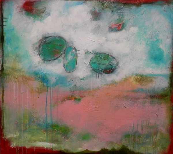 """Title:'Up, Up and Away' Medium:mixed media on canvas Size:29"""" x 33"""""""
