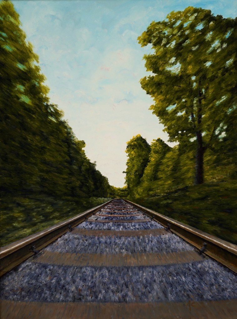Title:World going by Medium:Oil Size:18 x 24