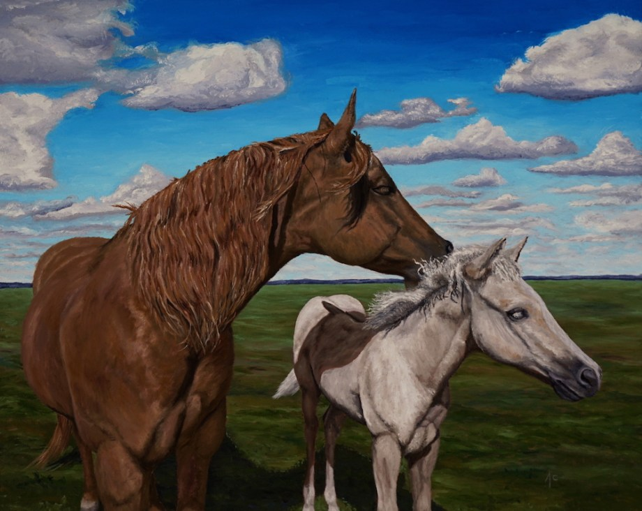 Title:A Mares touch Medium:Oil Size:24 x 30
