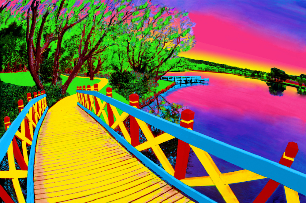 "Title:Bridge of Dreams Medium:	Photoshop enhanced photography Size:	20""x30"""