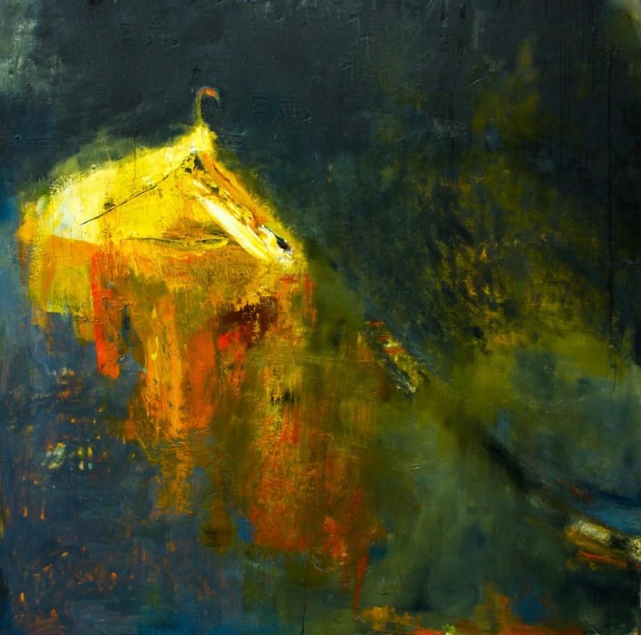 "Title:Beyond Words Medium:oil paint on linen Size:76"" x 76"""