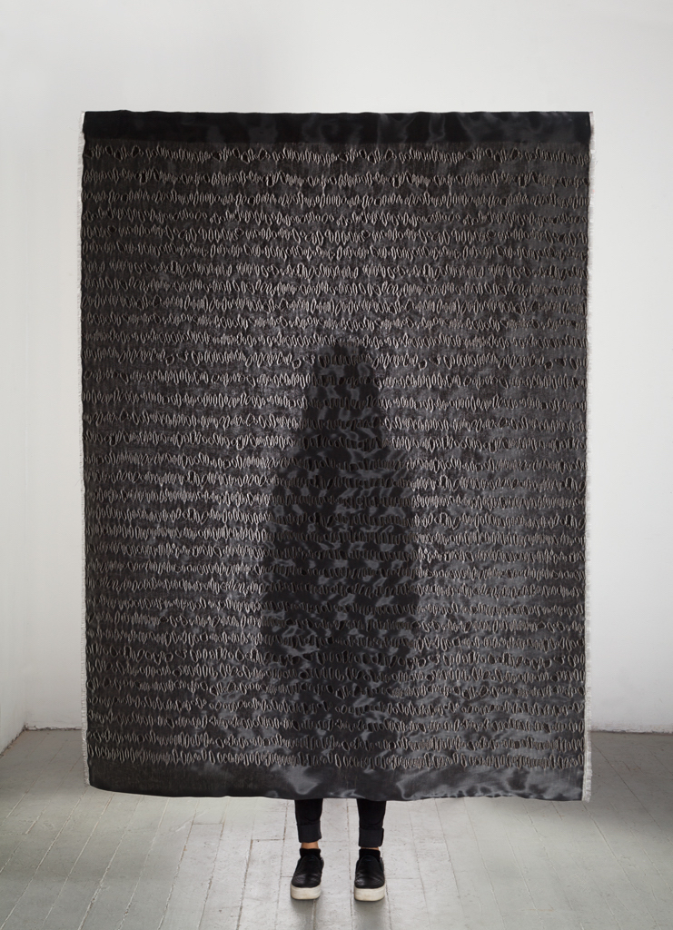"Title:Under the Light Medium:	Jacquard woven with nylon and cotton Size:	54""x90"""