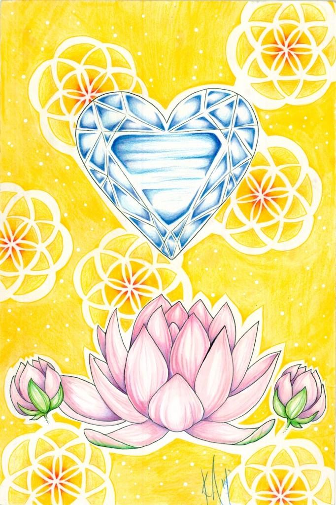 Title:Diamond Heart Medium: mixed media Size: 11 in. X 15 in.