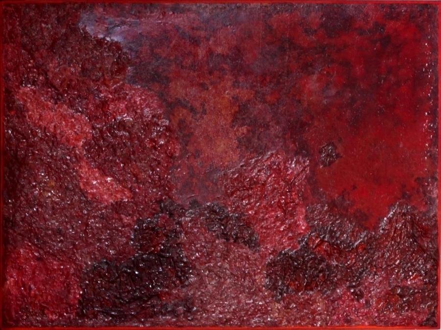 "Title:Burn Medium: PaletteArt - 100% Acrylc Recycled Paint on canvas Size: 24 x 36"""