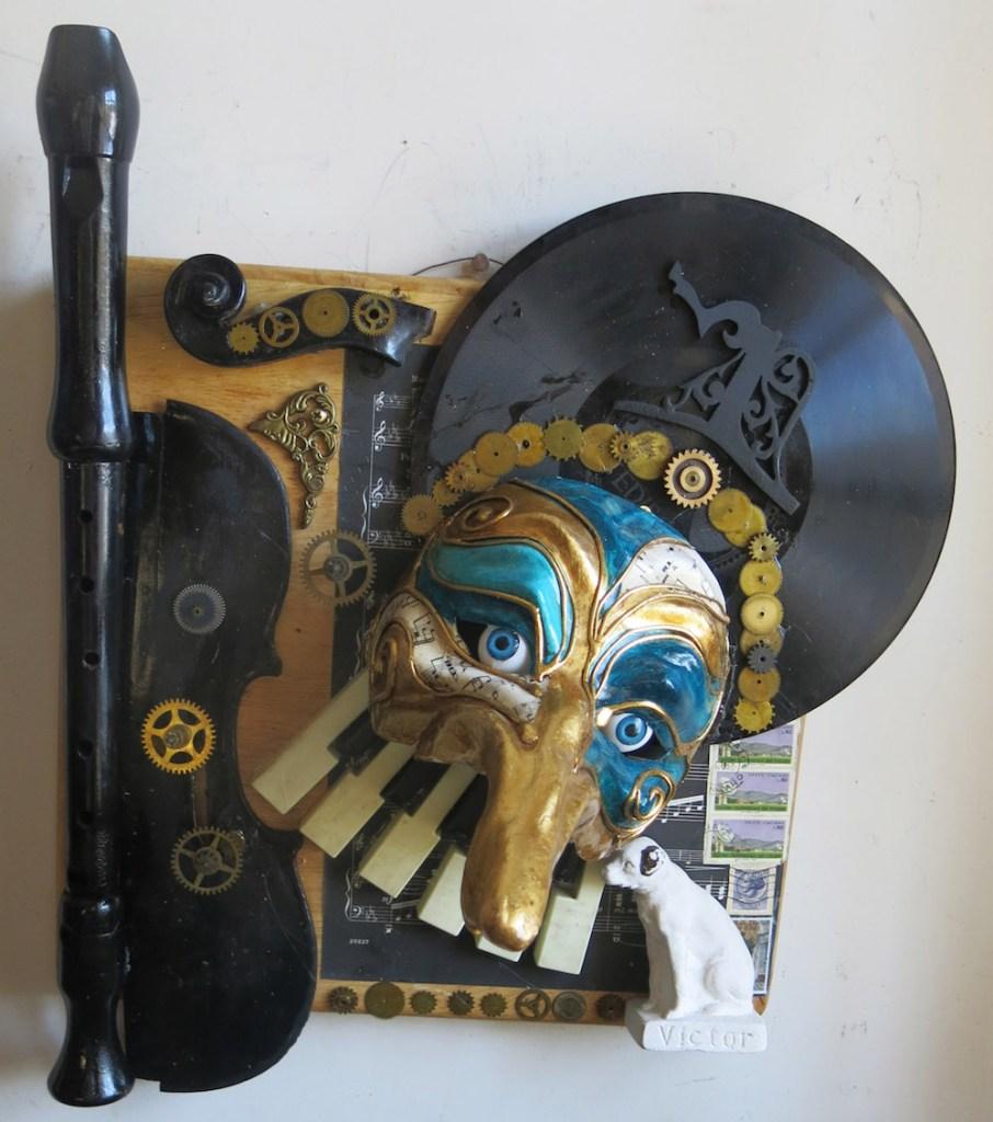 Title:Turandot Medium:Found Object Sculpture Size:19H x 13.5W x11D
